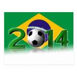 Soccer World Cup 2014 Postcard