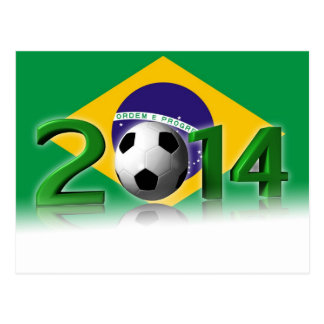 Soccer World Cup 2014 Postcard