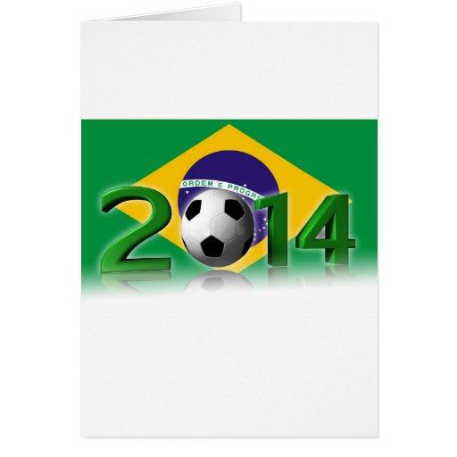 Soccer World Cup 2014 Tarjeta De Felicitación
