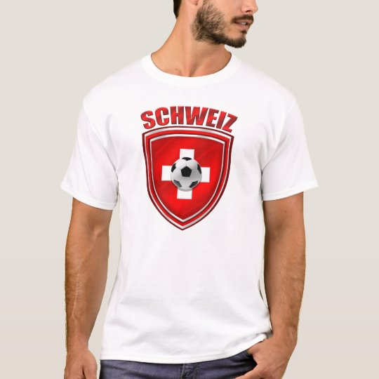 Soccer World Cup - Brazil 2014 Swiss flag futebol T-Shirt