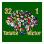 Soccer world cup soccer fans and coaches poster