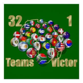 Soccer world cup soccer fans and coaches print