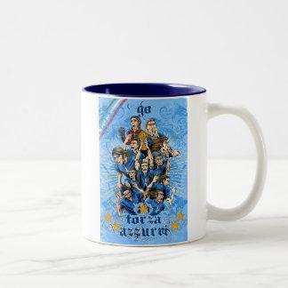 Soccer World - Italy 2014 flag victory calcio Two-Tone Coffee Mug