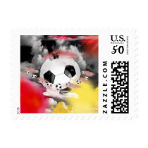 Soccer World Sports Cloud Stamp