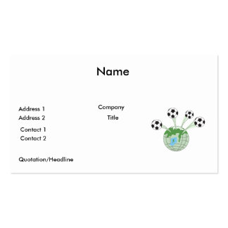 soccer world worldwide graphic Double-Sided standard business cards (Pack of 100)