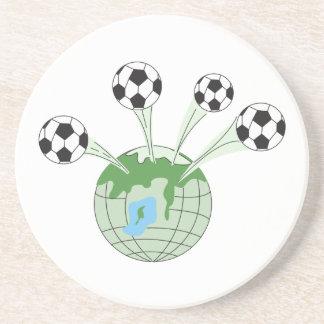 soccer world worldwide graphic coasters