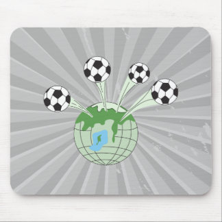 soccer world worldwide graphic mouse pad