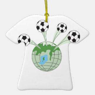 soccer world worldwide graphic Double-Sided T-Shirt ceramic christmas ornament