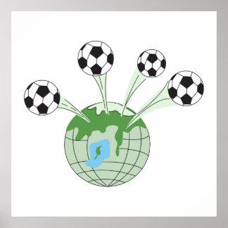 soccer world worldwide graphic poster