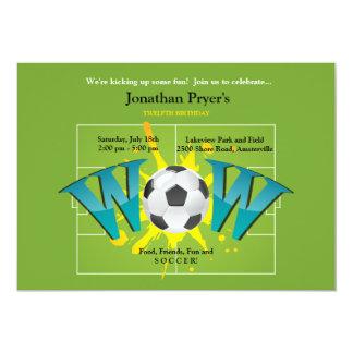 Soccer WOW Invitation