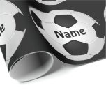 Soccer Wrapping Paper With Your NAME and COLORS