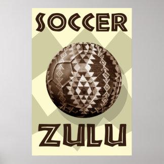 Soccer Zulu Large Poster for Soccer fans