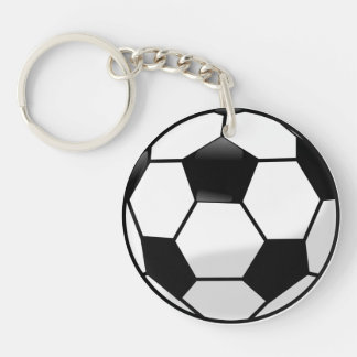 Soccerball Acrylic Keychain