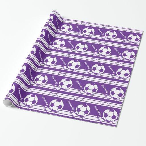 Soccerball púrpura