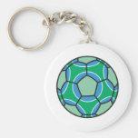 soccerball verde y azul llaveros