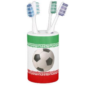 Soccerball with Iranian flag Bathroom Set