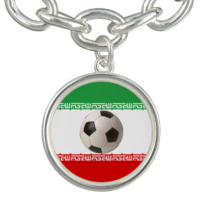 Soccerball with Iranian flag Bracelets