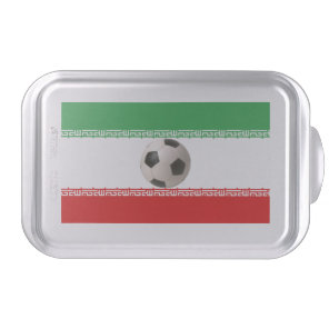 Soccerball with Iranian flag Cake Pan