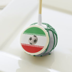 Soccerball with Iranian flag Cake Pops
