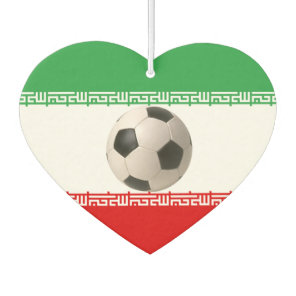 Soccerball with Iranian flag Car Air Freshener