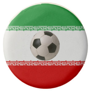 Soccerball with Iranian flag Chocolate Dipped Oreo