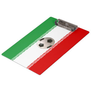 Soccerball with Iranian flag Clipboard