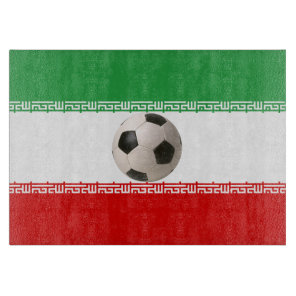 Soccerball with Iranian flag Cutting Board