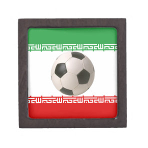 Soccerball with Iranian flag Gift Box
