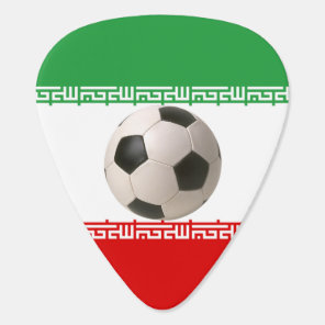 Soccerball with Iranian flag Guitar Pick