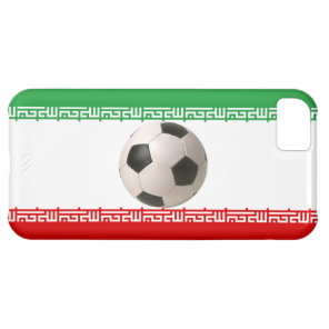 Soccerball with Iranian flag iPhone 5C Cover