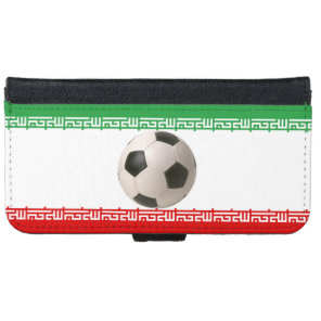 Soccerball with Iranian flag iPhone 6/6s Wallet Case