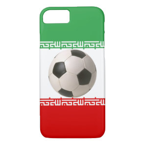Soccerball with Iranian flag iPhone 7 Case