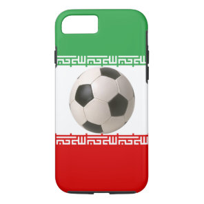Soccerball with Iranian flag iPhone 8/7 Case