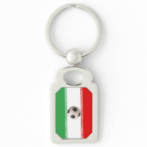 Soccerball with Iranian flag Keychain