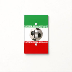 Soccerball with Iranian flag Light Switch Cover