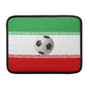 Soccerball with Iranian flag MacBook Sleeve