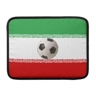 Soccerball with Iranian flag MacBook Sleeve