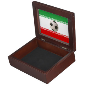 Soccerball with Iranian flag Memory Box