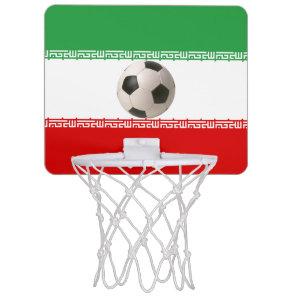 Soccerball with Iranian flag Mini Basketball Hoop