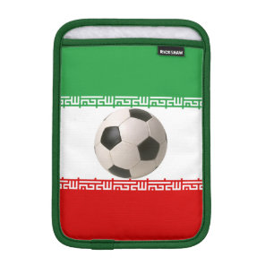 Soccerball with Iranian flag Sleeve For iPad Mini