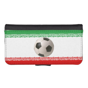 Soccerball with Iranian flag Wallet Phone Case For iPhone SE/5/5s