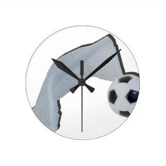 SoccerBallGoal050915 Round Clock