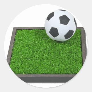 SoccerBallGrass101311 Classic Round Sticker