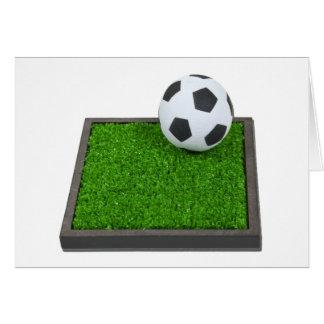 SoccerBallGrass101311 Greeting Card