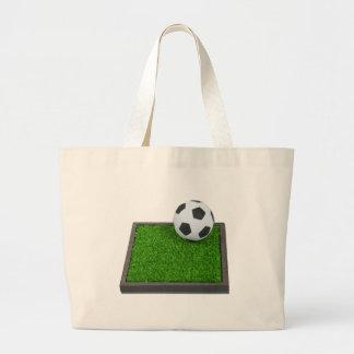 SoccerBallGrass101311 Jumbo Tote Bag