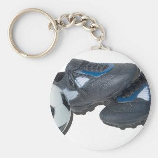 SoccerBallTrackShoes050915 Keychain