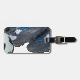 SoccerBallTrackShoes050915 Luggage Tag