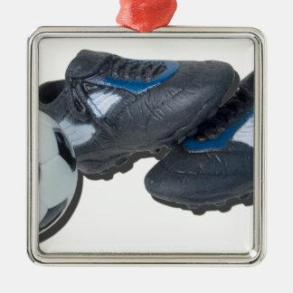 SoccerBallTrackShoes050915 Metal Ornament