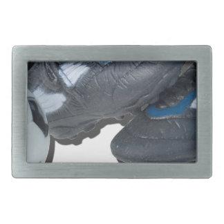 SoccerBallTrackShoes050915 Rectangular Belt Buckle