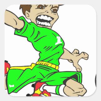 SOCCERBOY GREEN SQUARE STICKER
